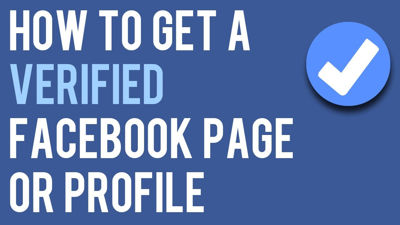 How To Verify Facebook Page Or Account - Naresh LamGade